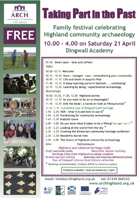 Taking Part in the Past ARCH festival, Dingwall